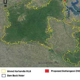New Map of Umred Krhandla